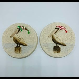 Sand Reflections Christmas Pelican Hanging Plate